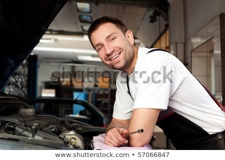 красивый · механиком · автомобилей · Auto · ремонта · магазин - Сток-фото © Lopolo