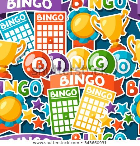 Lotería juego patrón tarjetas eps Foto stock © netkov1