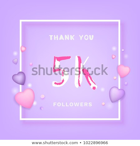 5000 followers on social media template Stock photo © SArts
