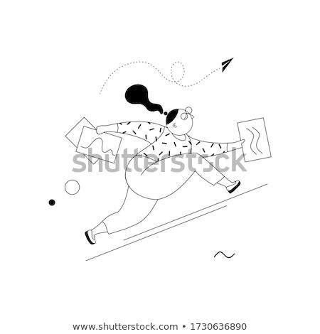 Titkárnő firka fiatal iroda papír munka Stock fotó © ra2studio