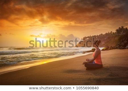 Chin Mudra and lotus posture Stock photo © lichtmeister