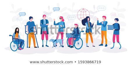happy disabled businesswoman working stock photo © andreypopov