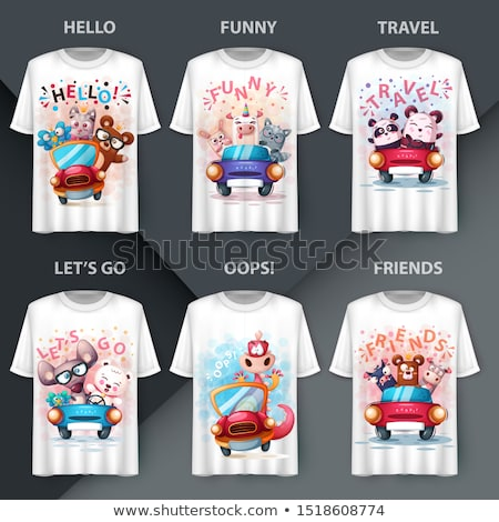 Set Animals T Shirt Mockup For Your Idea Vector Illustration