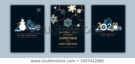 new year 2020 banner of gold art deco holiday gift stock photo © cienpies