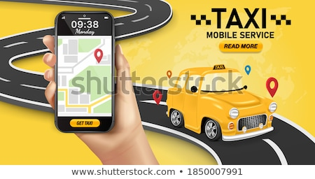 Bestemming online taxi icon vector dun Stockfoto © pikepicture