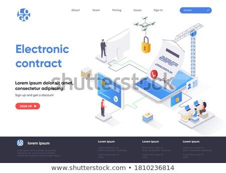 electronic signature concept banner header stock photo © rastudio