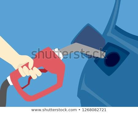 Hand orkaan auto illustratie benzine binnenkant Stockfoto © lenm