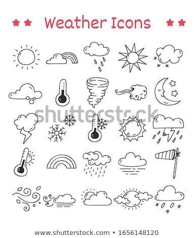 icônes · météorologiques · vecteur · eps · format - photo stock © abdulsatarid