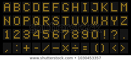 airport time scoreboard font stock photo © jamdesign