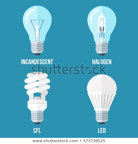 Led, Fluorescent And Incandescent Lamps Set Vector Stock photo © pikepicture