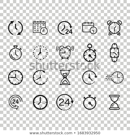 Set of white clock face for with pointer Stock photo © FoxysGraphic