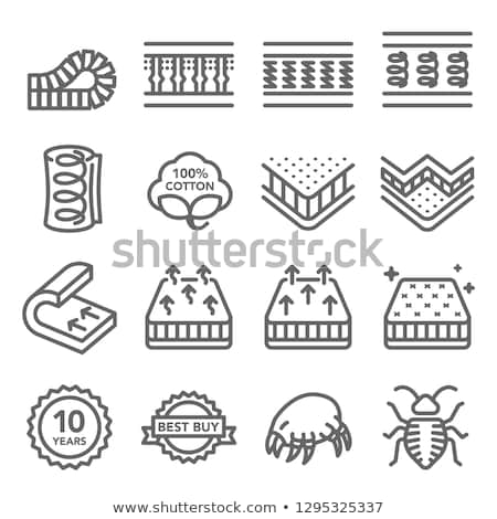Matras ventilatie icon schets illustratie vector Stockfoto © pikepicture