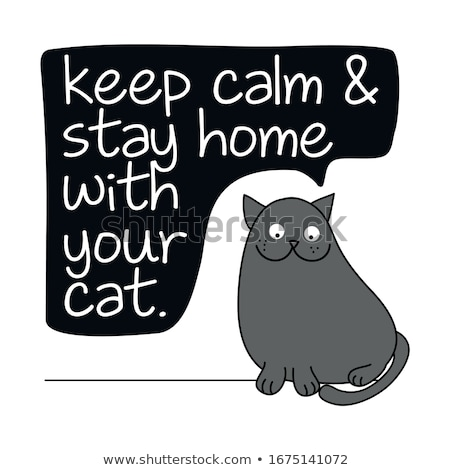 Keep calm and stay home with your cat Stock photo © Zsuskaa