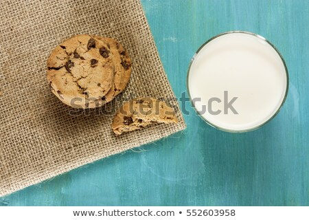 Butter cookies with glass of milk Stock photo © Alex9500