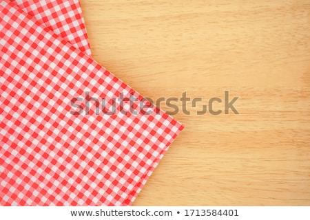 таблице скатерть розовый ткань ткань столе Сток-фото © robuart