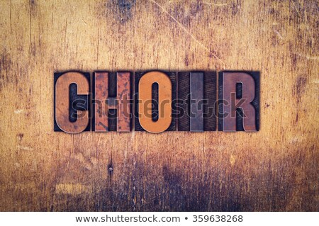 Voice Concept Vintage Wooden Letterpress Type Word Stock photo © enterlinedesign