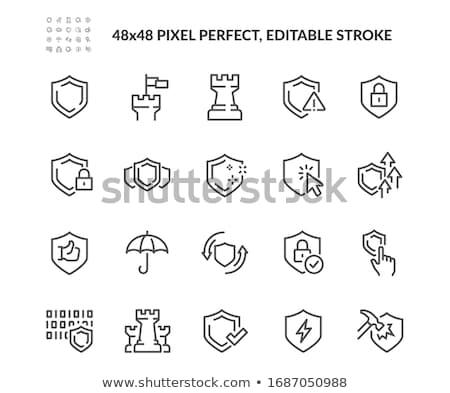 Garantir sécurisé protection monde signe or Photo stock © jossdiim