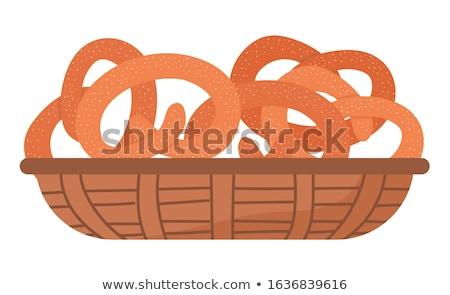 Zoute krakeling gebak bakkerij knoop zout Stockfoto © robuart