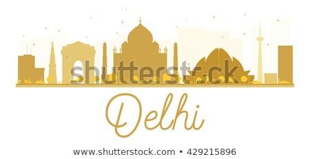 Délhi dourado silhueta simples turismo Foto stock © ShustrikS