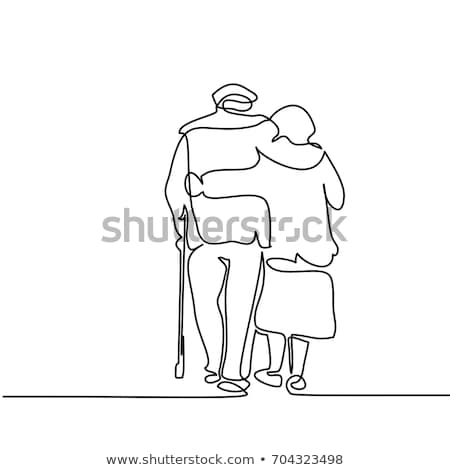 Starych ludzi życia wektora metafory starszy ludzi Zdjęcia stock © RAStudio