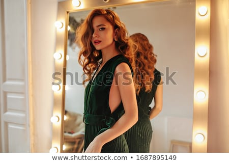 red haired woman in stylish room stock photo © konradbak