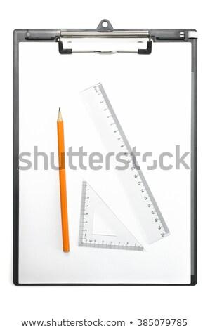 Carta triangolo righello matita in bianco e nero Foto d'archivio © yupiramos