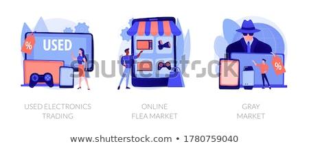 Dispositivo vetor metáforas barato compra Foto stock © RAStudio