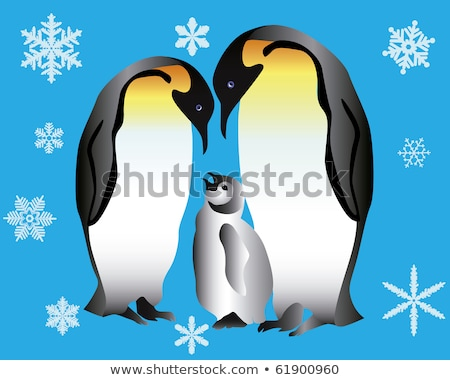 Two penguins and their cub  Stock photo © mayboro