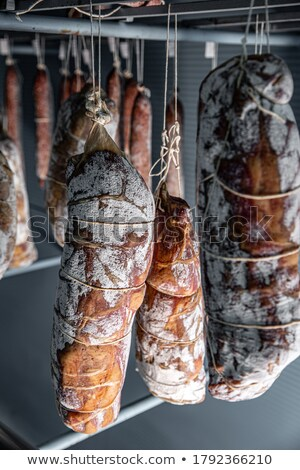 Nice mold starting to growth on salami Stock photo © grafvision