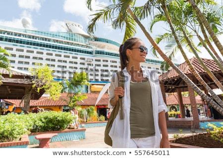Crociera barca turistica porta chiamata shopping Foto d'archivio © Maridav