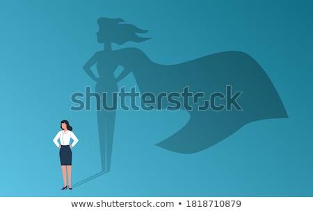 Feminismus Vektor Metapher Schutz Frauen Rechte Stock foto © RAStudio