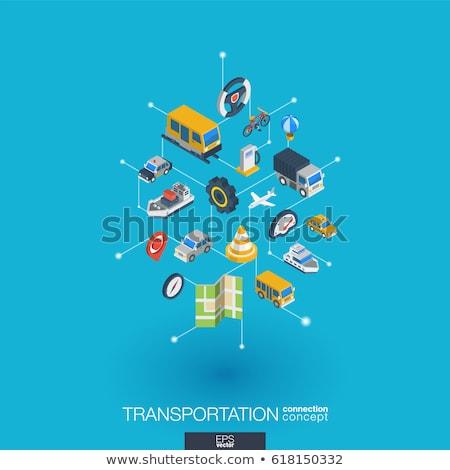 öffentlichen Verkehrsmitteln Fähre Symbol Vektor Zeichen Stock foto © pikepicture