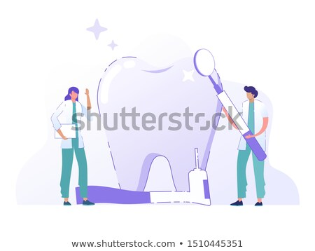 Dentist Teeth Cleaning isometric icon vector illustration Stock photo © pikepicture