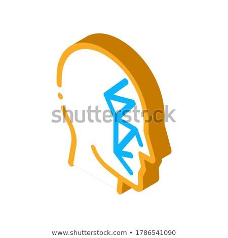 Cara esquadrinhar pontos ponto isométrica ícone Foto stock © pikepicture