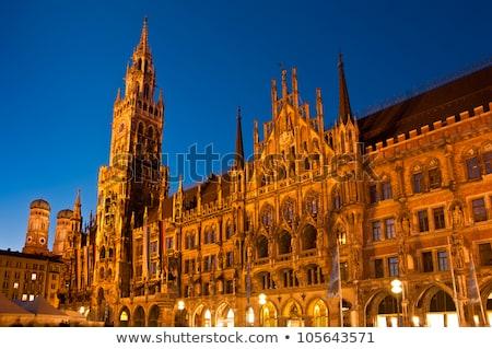 квадратный ночь новых ратуша Мюнхен Германия Сток-фото © dmitry_rukhlenko