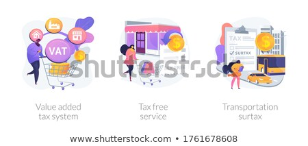 Value added tax system concept vector illustration Stock photo © RAStudio
