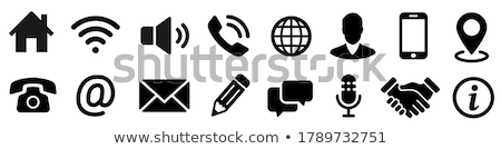 cellular phone with an address book concepts of communication stock photo © johnkwan