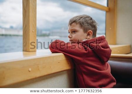 парусного расстояние лодка морем лет зеленый Сток-фото © lithian