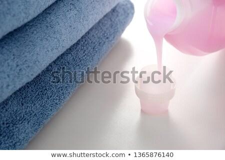 Foto stock: Rosa · sabão · garrafa · colorido · toalhas