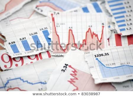 desgarrado · financieros · gráficos · negro · oficina · financiar - foto stock © Rebirth3d