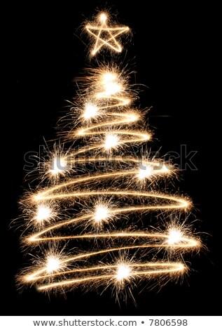Sparkler natal árvores spiralis abstrato luz Foto stock © Paha_L