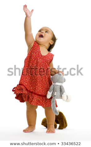 Baby Girl Trying to Touch Something stock photo © rognar