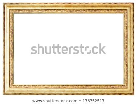Golden picture frame cutout Stock photo © Suljo