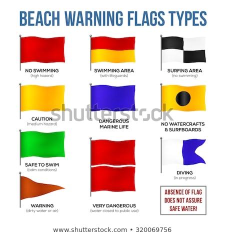 Avustralya · bayrak · kum · plaj · yaz - stok fotoğraf © thp