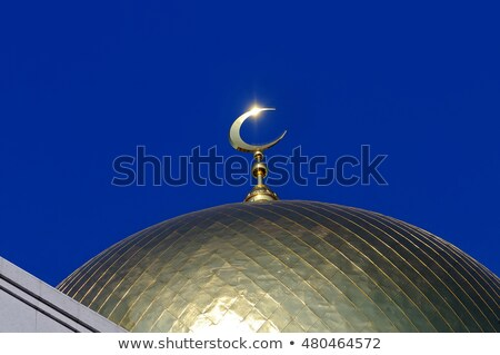 Half moon and a mosque Stock photo © leeser