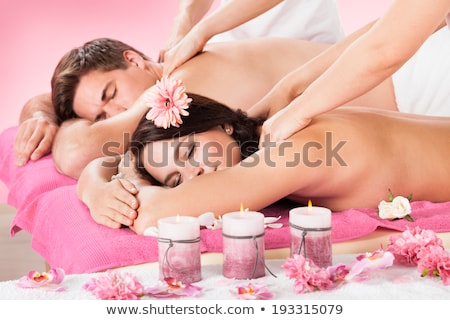 Topless pár szeretet test portré fiatal Stock fotó © stryjek