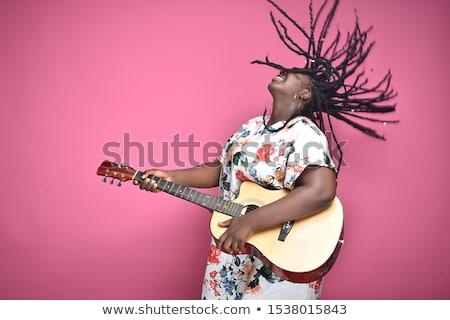 Appassionato chitarrista giovani casuale uomo giocare Foto d'archivio © feedough