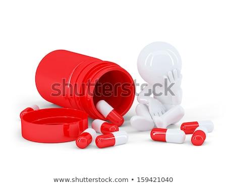 hapları · yalıtılmış · aspirin · vitamin · kömür · beyaz - stok fotoğraf © texelart