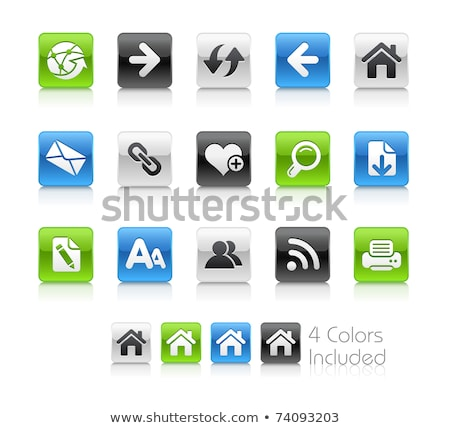 Web icons - glossy series Stock photo © fenton