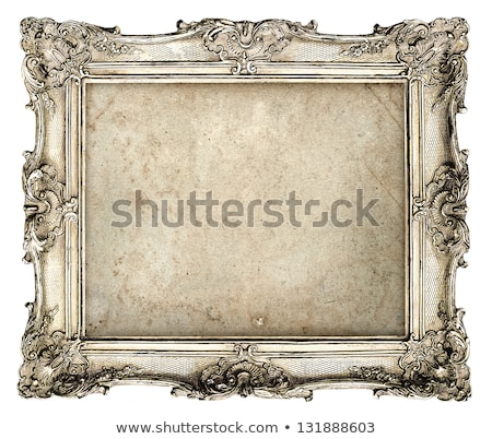 Zilver oude frame geïsoleerd witte textuur Stockfoto © ongap